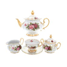 Чайный сервиз на 6 персон Queen's Crown Aristokrat Роза 15 предметов