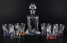 Набор для виски Crystalite Bohemia Quadro Ассорти 7 предметов