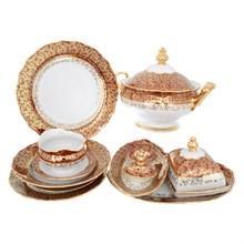 Столовый сервиз на 6 персон Queen's Crown Aristokrat Лист красный  27 предметов