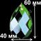 """Подвеска для люстры из цветного хрусталя """"Зеленая"""" (505/50) - фото 11549"""